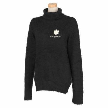 マリクレール marie claire レディース ロゴ刺繍 長袖 タートルネック セーター 730-700 2020年モデル ブラック(BK)