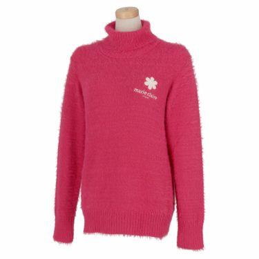 マリクレール marie claire レディース ロゴ刺繍 長袖 タートルネック セーター 730-700 2020年モデル レッド(RD)