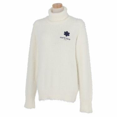 マリクレール marie claire レディース ロゴ刺繍 長袖 タートルネック セーター 730-700 2020年モデル オフホワイト(OWT)