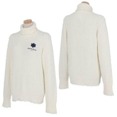 マリクレール marie claire レディース ロゴ刺繍 長袖 タートルネック セーター 730-700 2020年モデル 詳細3