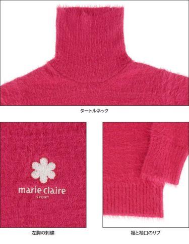 マリクレール marie claire レディース ロゴ刺繍 長袖 タートルネック セーター 730-700 2020年モデル 詳細4