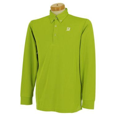 ブリヂストンゴルフ TOUR B メンズ ロゴプリント ヘリンボーン柄 長袖 ボタンダウン ポロシャツ SGM01F 2020年モデル  イエロー(YE)