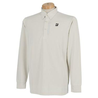 ブリヂストンゴルフ TOUR B メンズ ロゴプリント ヘリンボーン柄 長袖 ボタンダウン ポロシャツ SGM01F 2020年モデル  オフホワイト(OW)