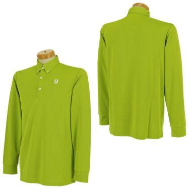 ブリヂストンゴルフ TOUR B メンズ ロゴプリント ヘリンボーン柄 長袖 ボタンダウン ポロシャツ SGM01F 2020年モデル  詳細3