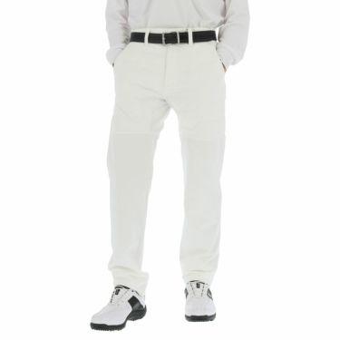 ブリヂストンゴルフ メンズ 生地切替 中綿入り 裏起毛 ストレッチ ストレート ロングパンツ 6GS01K 2020年モデル [裾上げ対応1] ホワイト(WH)