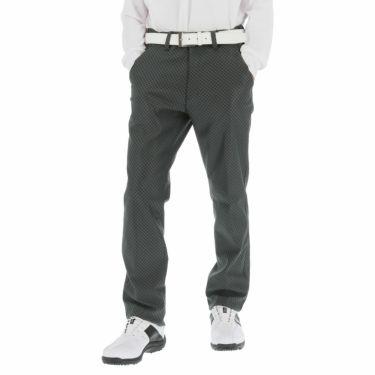 ブリヂストンゴルフ メンズ 撥水 ストレッチ チェック柄 裏起毛 ストレート ロングパンツ SGM02K 2020年モデル [裾上げ対応1] ブラック(BK)