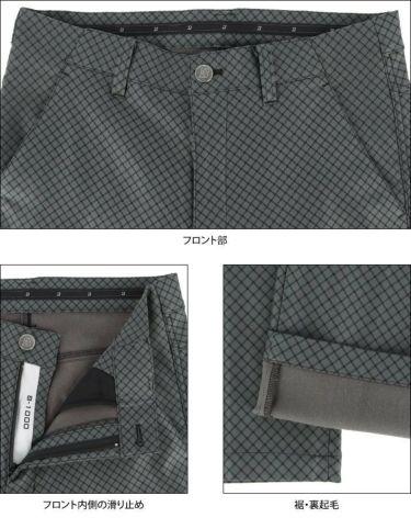 ブリヂストンゴルフ メンズ 撥水 ストレッチ チェック柄 裏起毛 ストレート ロングパンツ SGM02K 2020年モデル [裾上げ対応1] 詳細5