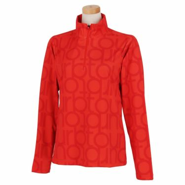 ブリヂストンゴルフ TOUR B レディース ロゴモチーフ 総柄プリント 長袖 ハーフジップシャツ SGL02F 2020年モデル  スカーレット(SC)