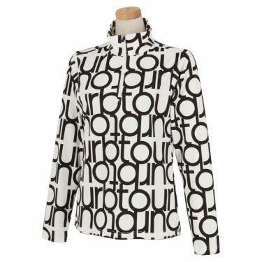 ブリヂストンゴルフ TOUR B レディース ロゴモチーフ 総柄プリント 長袖 ハーフジップシャツ SGL02F 2020年モデル  ホワイト(WH)