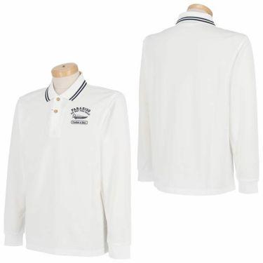 パラディーゾ Paradiso メンズ ロゴモチーフ刺繍 長袖 ポロシャツ SSM01F 2020年モデル 詳細3