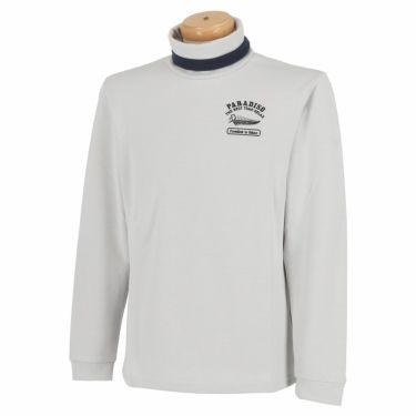 パラディーゾ Paradiso メンズ ロゴモチーフ刺繍 長袖 タートルネックシャツ SSM51F 2020年モデル オフホワイト(OW)
