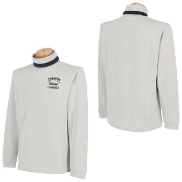 パラディーゾ Paradiso メンズ ロゴモチーフ刺繍 長袖 タートルネックシャツ SSM51F 2020年モデル 詳細3