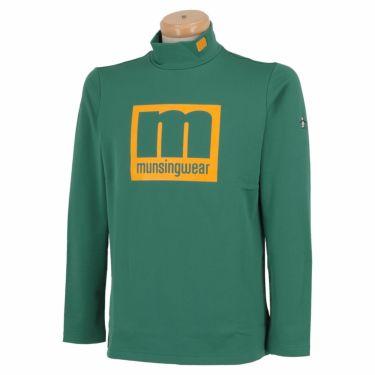 マンシングウェア Munsingwear メンズ エンボスラバープリント 長袖 ハイネックシャツ MEMQJB08 2020年モデル グリーン(GR00)