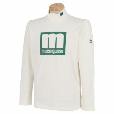 マンシングウェア Munsingwear メンズ エンボスラバープリント 長袖 ハイネックシャツ MEMQJB08 2020年モデル ホワイト(WH00)