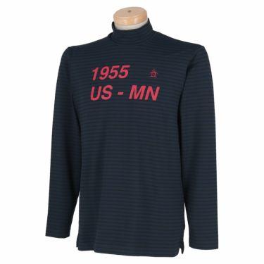 マンシングウェア Munsingwear メンズ ボーダー柄 長袖 ハイネックシャツ MGMQJB22 2020年モデル ネイビー(NV00)