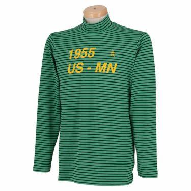 マンシングウェア Munsingwear メンズ ボーダー柄 長袖 ハイネックシャツ MGMQJB22 2020年モデル グリーン(GR00)
