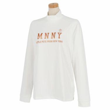 マンシングウェア Munsingwear レディース メタリックプリント 長袖 ハイネックシャツ MGWQJB03 2020年モデル ホワイト(WH00)