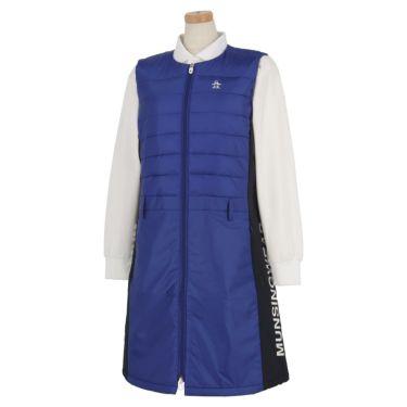 マンシングウェア Munsingwear レディース 撥水 中綿 ノースリーブ ノーカラー フルジップ ワンピース MGWQJK56 2020年モデル ブルー(BL00)