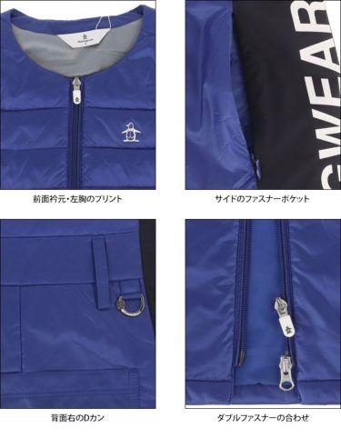 マンシングウェア Munsingwear レディース 撥水 中綿 ノースリーブ ノーカラー フルジップ ワンピース MGWQJK56 2020年モデル 詳細3