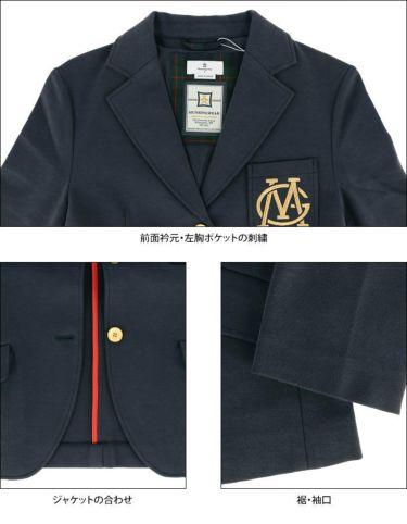 マンシングウェア Munsingwear レディース ストレッチ ラメ刺繍 長袖 ジャケット MLWQGK90 2020年モデル 詳細3