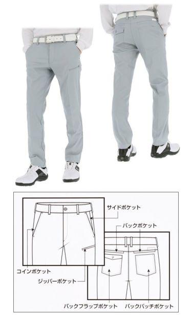 フットジョイ FootJoy メンズ 9ポケット 4WAYストレッチ テーパード ロングパンツ FJ-F20-P04 2020年モデル [裾上げ対応1●] 詳細3