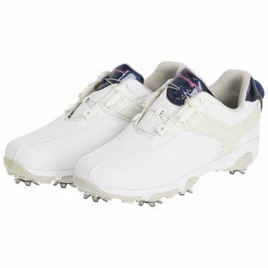 マンシングウェア Munsingwear ソフトスパイク レディース ゴルフシューズ MQ3NJA00 WHNV ホワイト/ネイビー ホワイト/ネイビー(WHNV)