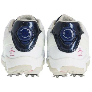 マンシングウェア Munsingwear ソフトスパイク レディース ゴルフシューズ MQ3NJA00 WHNV ホワイト/ネイビー 詳細3
