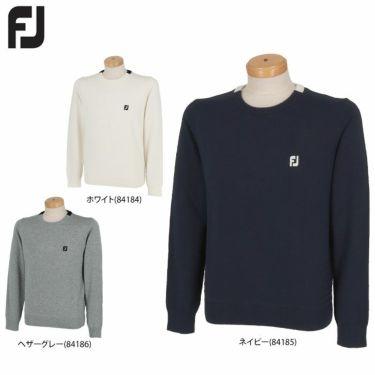 フットジョイ FootJoy メンズ ロゴ刺繍 防風 裏地付き ウール混 長袖 クルーネック セーター FJ-F20-M08 2020年モデル 詳細1