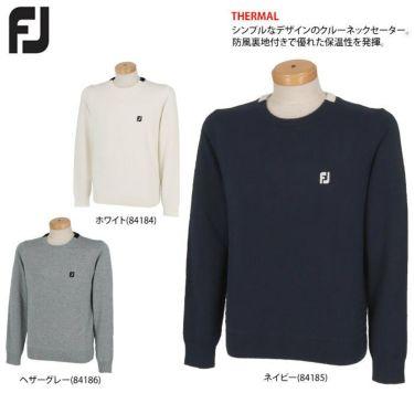 フットジョイ FootJoy メンズ ロゴ刺繍 防風 裏地付き ウール混 長袖 クルーネック セーター FJ-F20-M08 2020年モデル 詳細2
