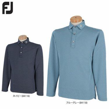 フットジョイ FootJoy メンズ 総柄 ジオメトリックプリント 4WAYストレッチ 長袖 ポロシャツ FJ-F20-S06 2020年モデル 詳細1