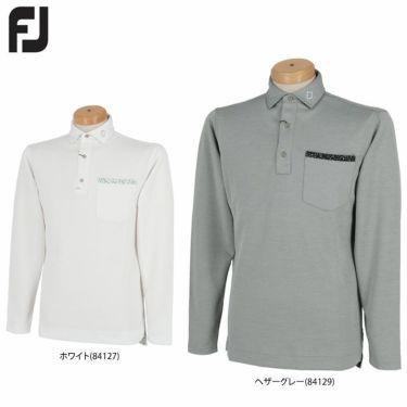 フットジョイ FootJoy メンズ ロゴプリント ポケット付き 生地切替 長袖 ポロシャツ FJ-F20-S09 2020年モデル 詳細1