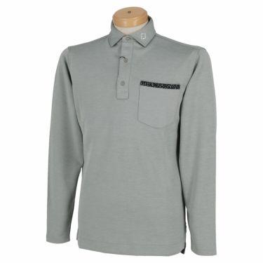 フットジョイ FootJoy メンズ ロゴプリント ポケット付き 生地切替 長袖 ポロシャツ FJ-F20-S09 2020年モデル ヘザーグレー(84129)