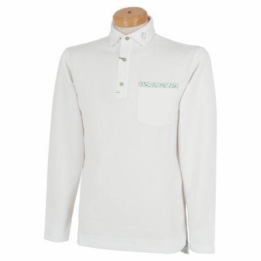 フットジョイ FootJoy メンズ ロゴプリント ポケット付き 生地切替 長袖 ポロシャツ FJ-F20-S09 2020年モデル ホワイト(84127)