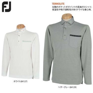 フットジョイ FootJoy メンズ ロゴプリント ポケット付き 生地切替 長袖 ポロシャツ FJ-F20-S09 2020年モデル 詳細2