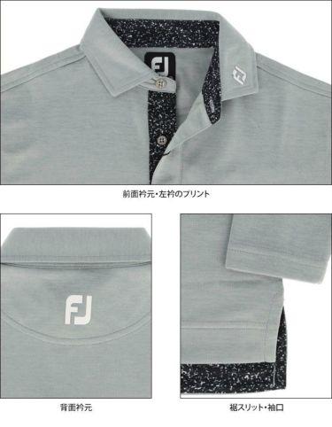 フットジョイ FootJoy メンズ ロゴプリント ポケット付き 生地切替 長袖 ポロシャツ FJ-F20-S09 2020年モデル 詳細4