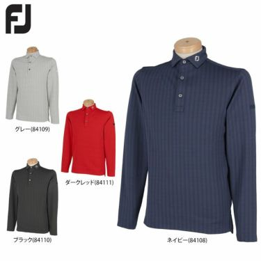 フットジョイ FootJoy メンズ ヘリンボーン柄 4WAYストレッチ 裏起毛 長袖 ポロシャツ FJ-F20-S14 2020年モデル 詳細1