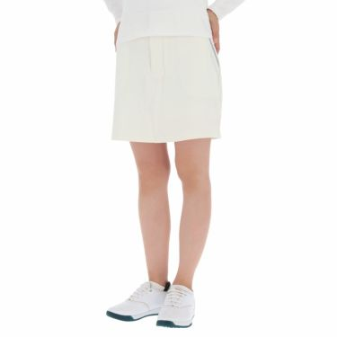 フットジョイ FootJoy レディース ロゴ刺繍 4WAYストレッチ インナーショーツ一体型 スカート FJW-F19-P01 ホワイト(83290)