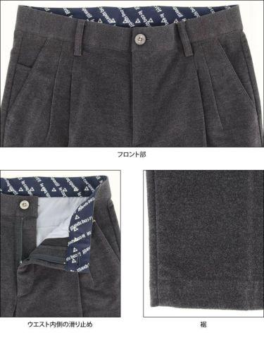 ルコック Le coq sportif メンズ ツータック ストレッチ テーパード ロングパンツ QGMQJD16 2020年モデル [裾上げ対応1●] 詳細5