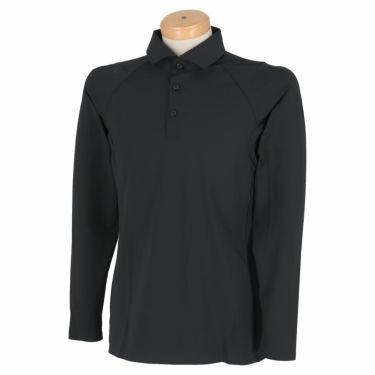 デサントゴルフ DESCENTE GOLF メンズ ハイストレッチ メッシュ切替 無縫製 長袖 ポロシャツ DGMMJB17 2020年モデル ブラック(BK00)