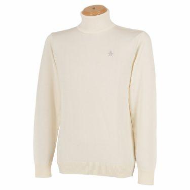 マンシングウェア Munsingwear メンズ ロゴ刺繍 長袖 タートルネック セーター MLMQGL07 2020年モデル ホワイト(WH00)