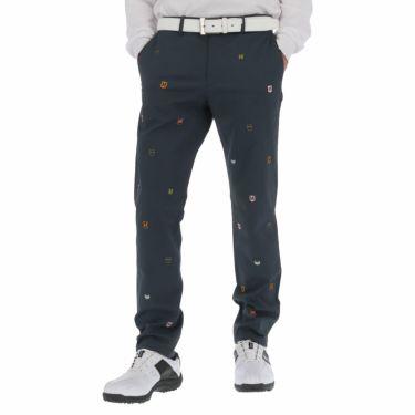 マンシングウェア Munsingwear メンズ 飛び柄 モチーフ刺繍 ストレッチ ロングパンツ MGMQJD08 2020年モデル [裾上げ対応1] ネイビー(NV00)