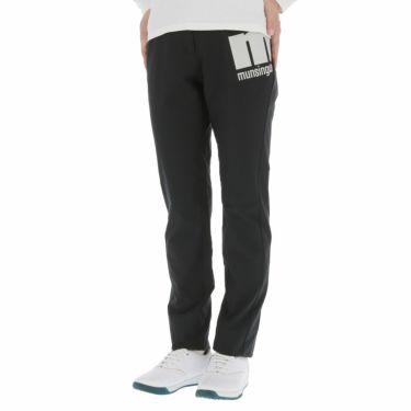 マンシングウェア Munsingwear レディース ストレッチ 防風 ロゴプリント ロングパンツ MEWQJD03 2020年モデル [裾上げ対応1] ブラック(BK00)