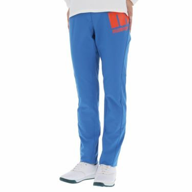 マンシングウェア Munsingwear レディース ストレッチ 防風 ロゴプリント ロングパンツ MEWQJD03 2020年モデル [裾上げ対応1] ブルー(BL00)