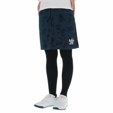 マンシングウェア Munsingwear レディース ストレッチ 総柄 起毛ツイル スカート MGWQJE06 2020年モデル ネイビー(NV00)