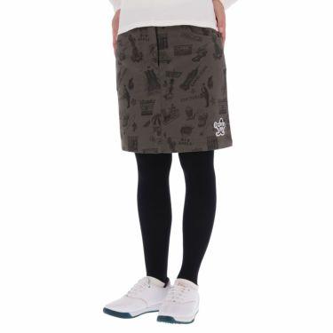 マンシングウェア Munsingwear レディース ストレッチ 総柄 起毛ツイル スカート MGWQJE06 2020年モデル グレー(GY00)