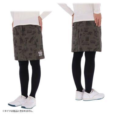 マンシングウェア Munsingwear レディース ストレッチ 総柄 起毛ツイル スカート MGWQJE06 2020年モデル 詳細3
