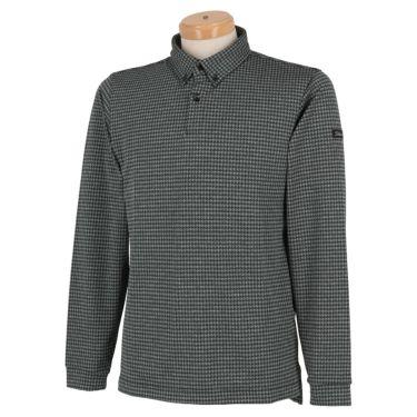 タイトリスト Titleist 千鳥柄 ストレッチ 長袖 メンズ ボタンダウン ポロシャツ TWMC2006 2020年モデル ブラック(BK)