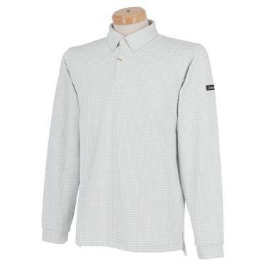 タイトリスト Titleist 千鳥柄 ストレッチ 長袖 メンズ ボタンダウン ポロシャツ TWMC2006 2020年モデル ライトグレー(LG)