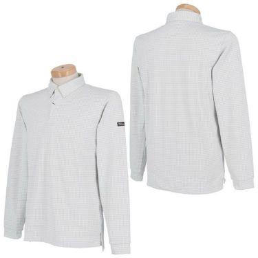 タイトリスト Titleist 千鳥柄 ストレッチ 長袖 メンズ ボタンダウン ポロシャツ TWMC2006 2020年モデル 詳細3