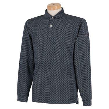 タイトリスト Titleist ヘリンボーン柄 ストレッチ 長袖 メンズ ポロシャツ TWMC2010 2020年モデル ネイビー(NV)